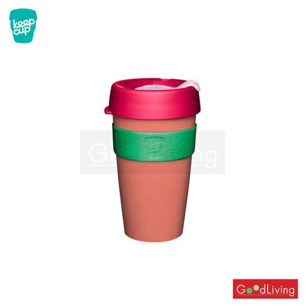 แก้ว KeepCup สีชมพูฝาชมพูเข้มที่จับสีเขียว-16oz/K-KCFA16-CW
