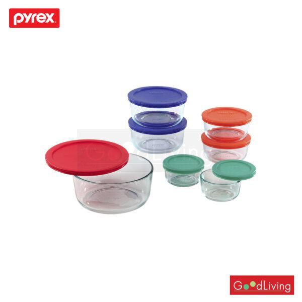 Pyrex ชุด14ชิ้น ฝาหลากสี/P-00-1081886