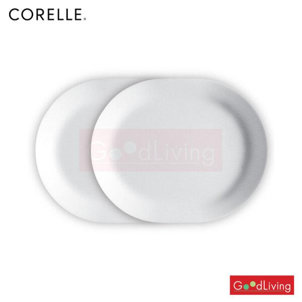 Corelle จานเสิร์ฟ ขนาด 10 x 12 (25.5 cm. x 32 cm.) สีขาว /C-03-611-N-LP