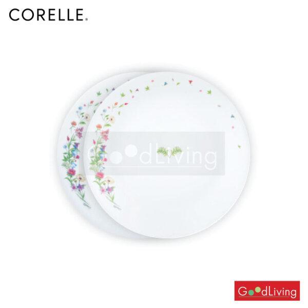 Corelle ชุดจานลาย Dancing Floral ขนาด 10 นิ้ว (25.5 cm.) 2 ชิ้น /C-03-110-DL-2/TH