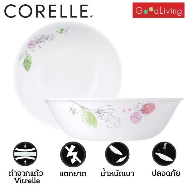 Corelle ชามอาหารขนาด1 ลิตร2 ชิ้นสีชมพู)/C-03-432-PD-2(Pink)