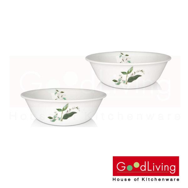 "Corelle Soup/Cereal Bowl 500 ml. 6"" (15.5 cm.) Leaf&Vase 2 Pcs. /C-03-418-LF-2"