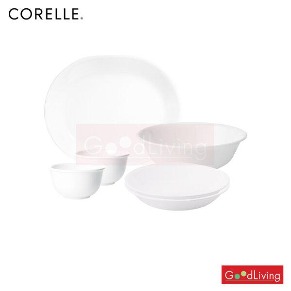 Corelle 6pc Corelle Set A - Just White รุ่น C-03-6A-N-P แถมถุงผ้า Corelle brands