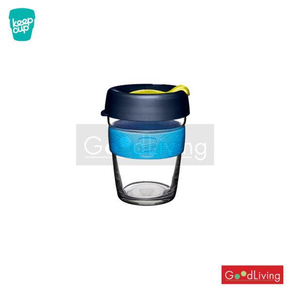 แก้ว KeepCup ใสฝาสีน้ำเงินที่จับสีฟ้า-12oz BLUELEAF/K-BBLU12