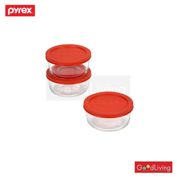 Pyrex ชุดชามแก้วถนอมอาหารพร้อมฝา 6Pc 473mL/P-00-1085657