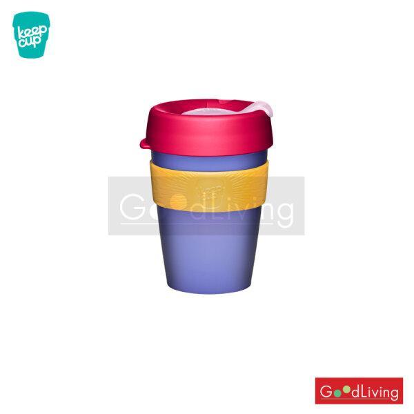แก้ว KeepCup สีม่วงอ่อนสีชมพูที่จับสีเหลือง12oz/K-KCFA12-SO