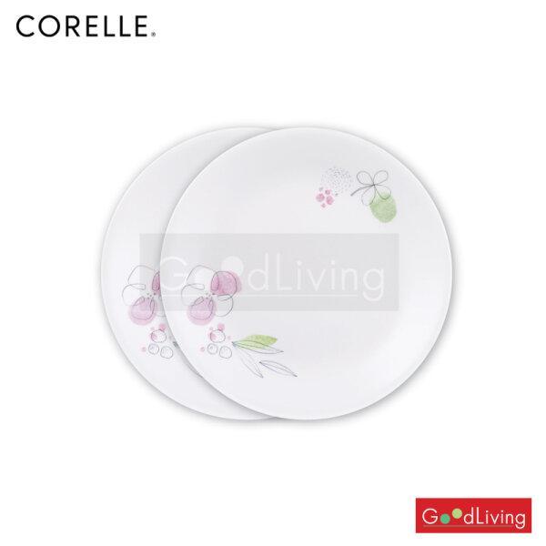 Corelle จานอาหารสีชมพู ขนาด 9 นิ้ว (23 ซม.) 2 ชิ้น/C-03-108-PD-2