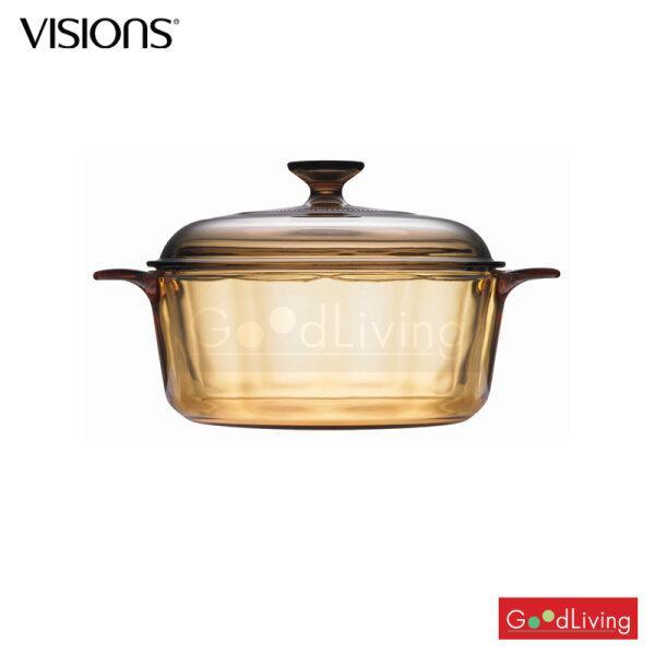 Visions หม้อแก้วทนไฟ+ฝา ขนาด 2.25 L. รุ่น V-01-VS 22/CL (สีชา)
