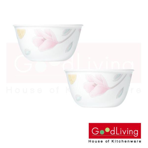 Corelle ชาม ขนาด 450 ml. 4.8 (12 cm.) สีชมพู-เหลือง 2 ชิ้น /C-03-426-EC