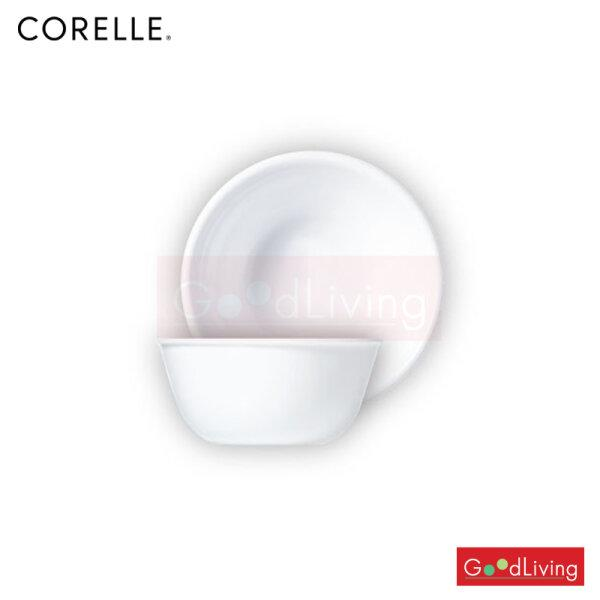 Corelle ชาม ขนาด 450 ml. 4.8 (12 cm.) สีขาว 2 ชิ้น /C-03-426-N-LP