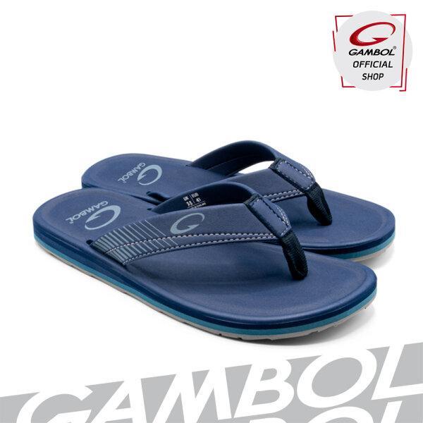 GAMBOL แกมโบล รองเท้าแตะลำลองชายหญิง (นุ่ม) รุ่น GM/GW11375 - สีดำ, น้ำตาลเข้ม, น้ำเงิน ,น้ำตาลอ่อน ,กรม ,อิฐ Size 36 - 44