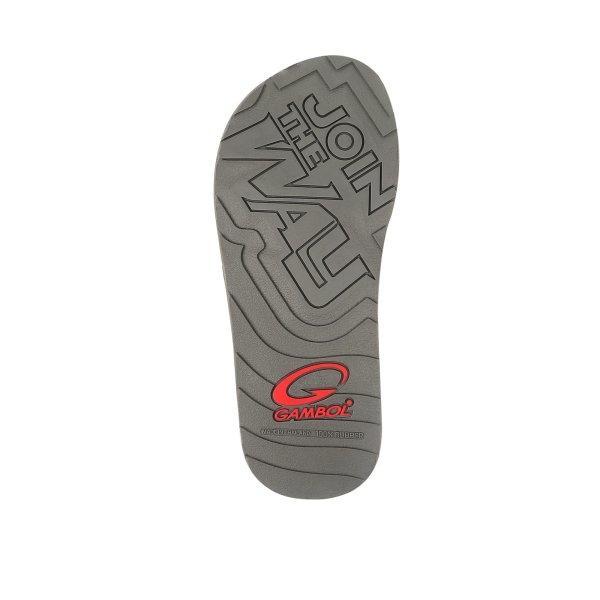 GAMBOL แกมโบล รองเท้าแตะลำลอง (นุ่ม) รุ่น GM12093 - สีเทา