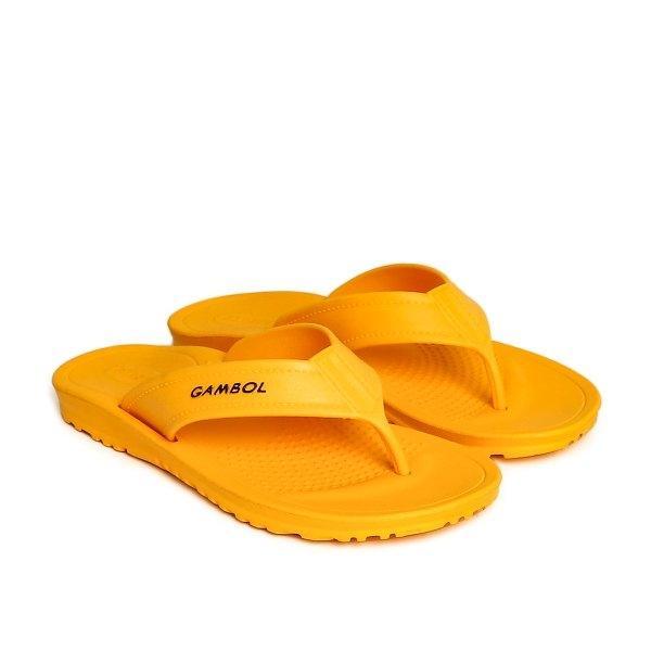 GAMBOL แกมโบล รองเท้าแตะแบบหนีบ ( phylon  ) รุ่น GM/GW 41123 - สีเหลือง