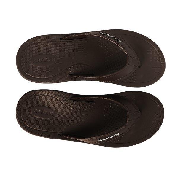 GAMBOL แกมโบล รองเท้าแตะแบบหนีบ ( phylon  ) รุ่น GM/GW 41123 - สีน้ำตาลเข้ม