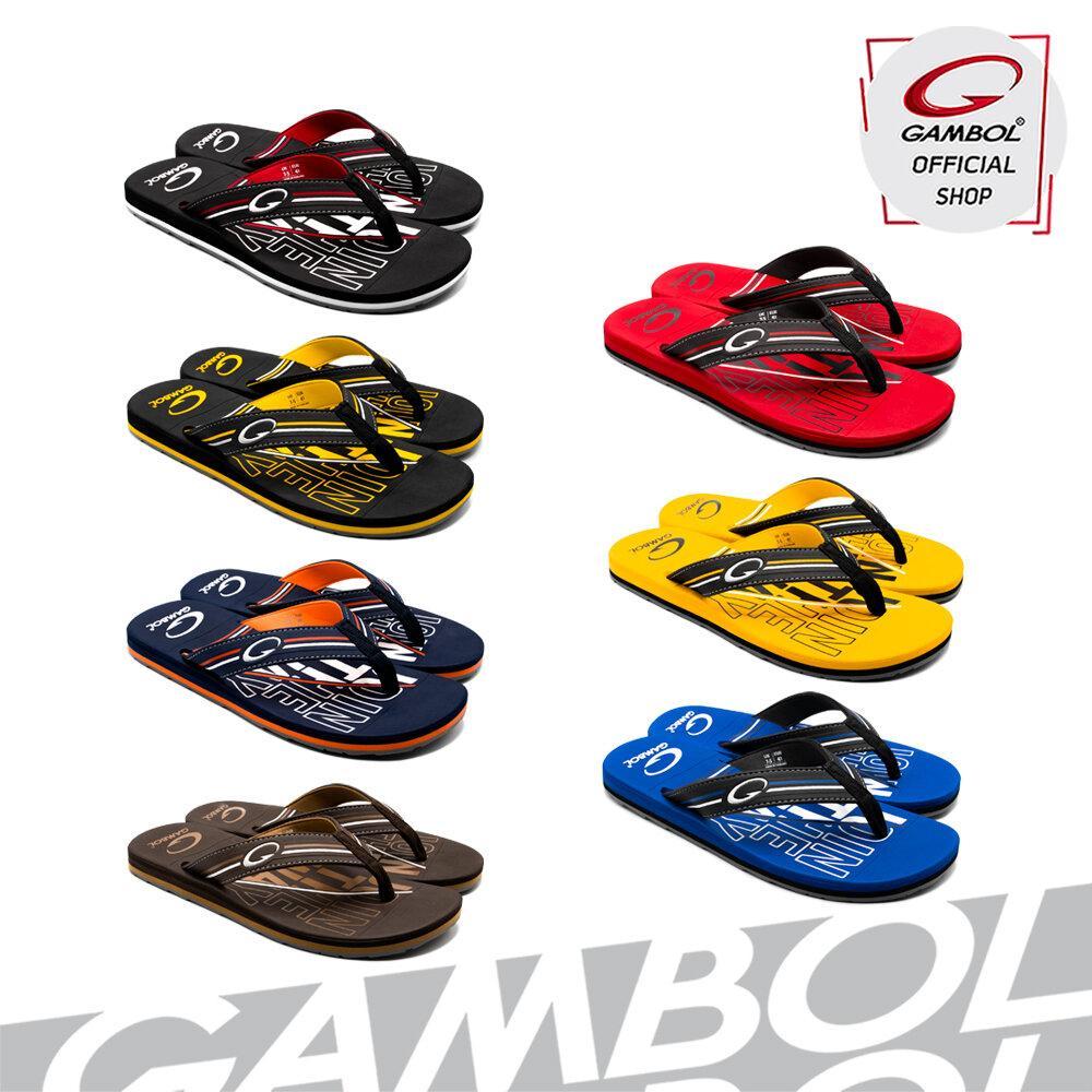 GAMBOL แกมโบล รองเท้าแตะลำลองชายหญิง (นุ่ม) รุ่น GM/GW11381  Size 36-44