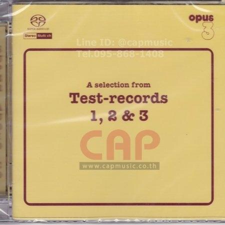 SACD รวมศิลปิน | A Selection from Test - Records 1, 2 & 3 (Hybrid/Stereo/Multi.ch)