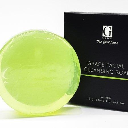 Grace Facial Cleansing Soap (เกรซ เฟเชี่ยล คลีนซิ่ง โซฟ) สบู่ใสล้างหน้า