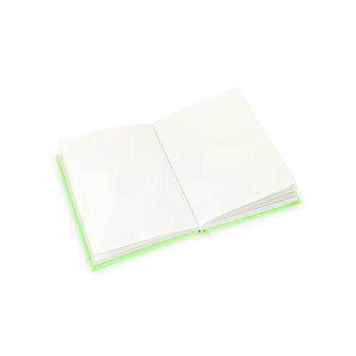 สมุดปกผ้า outline (neon green)