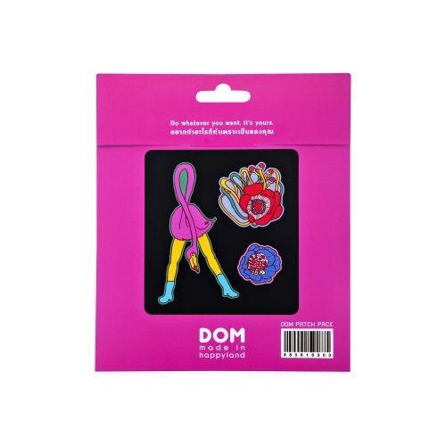 อาร์มติดเสื้อ / MONSTER PATCH SET (Flamingo)