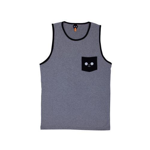 เสื้อกล้าม หน้าดม (Grey)
