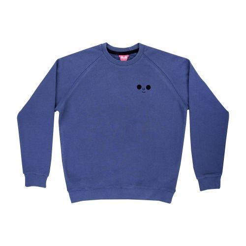 เสื้อ SWEATER ปักหน้าดม (Blue)