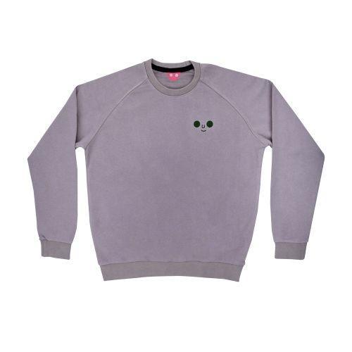 เสื้อ SWEATER ปักหน้าดม (Grey)
