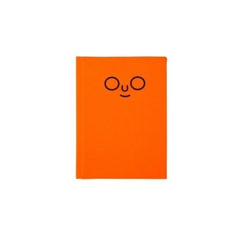 สมุดปกผ้า outline (Neon orange)