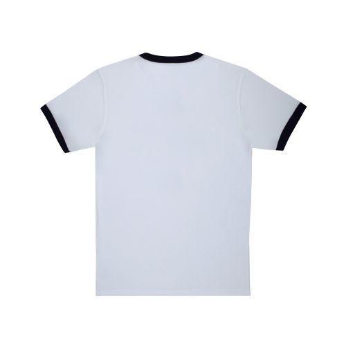 เสื้อ หน้าดม กำมะหยี่ (Navy White)