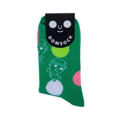 DOM DOT SOCK L (GREEN)