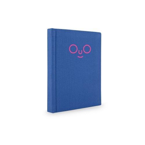 สมุดปกผ้า outline (Blue)