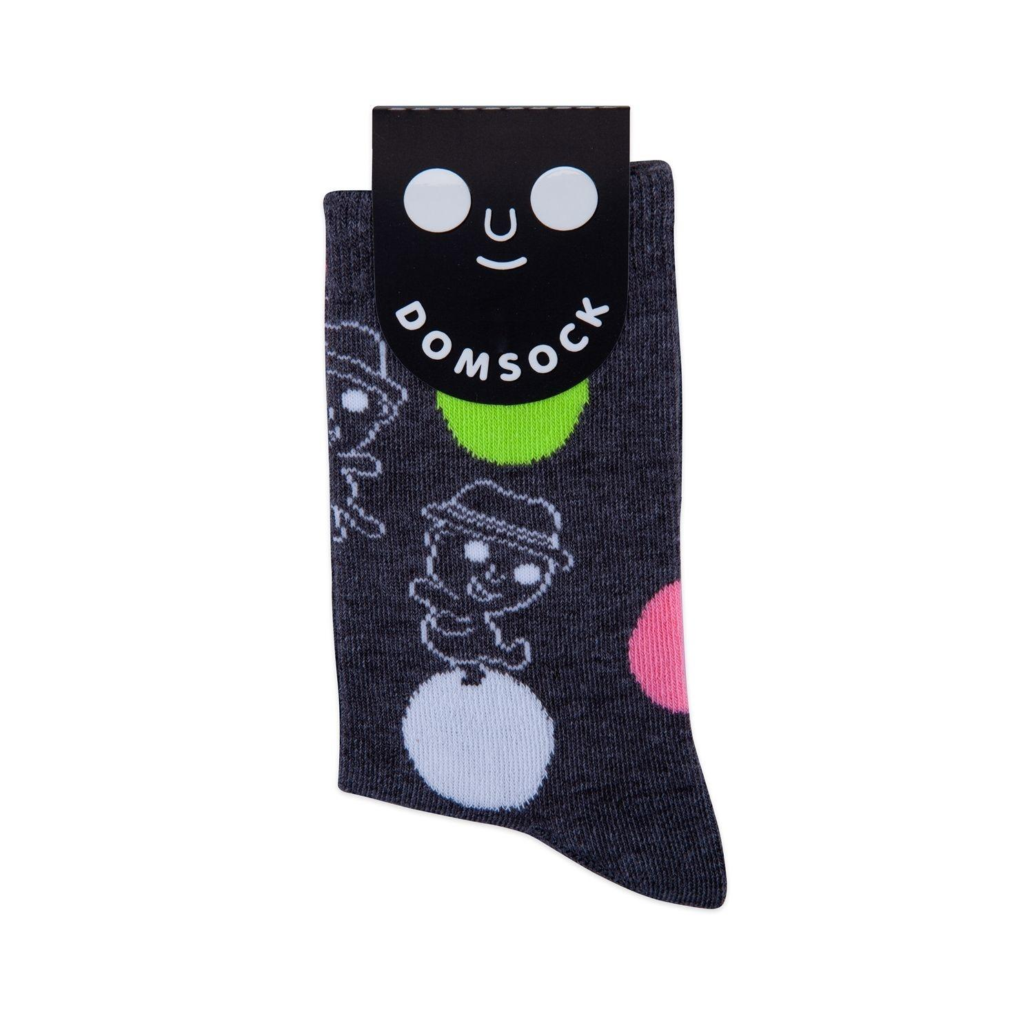 DOM DOT SOCK L (GREY)