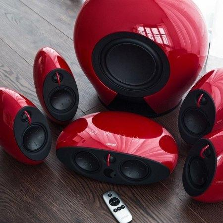 Edifier E255 5.1 Home theater Speaker (RED)