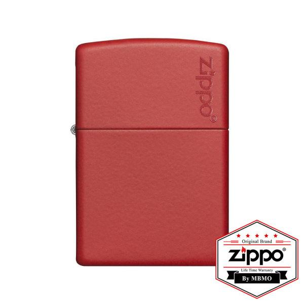 233ZL Red Matte with Zippo Logo