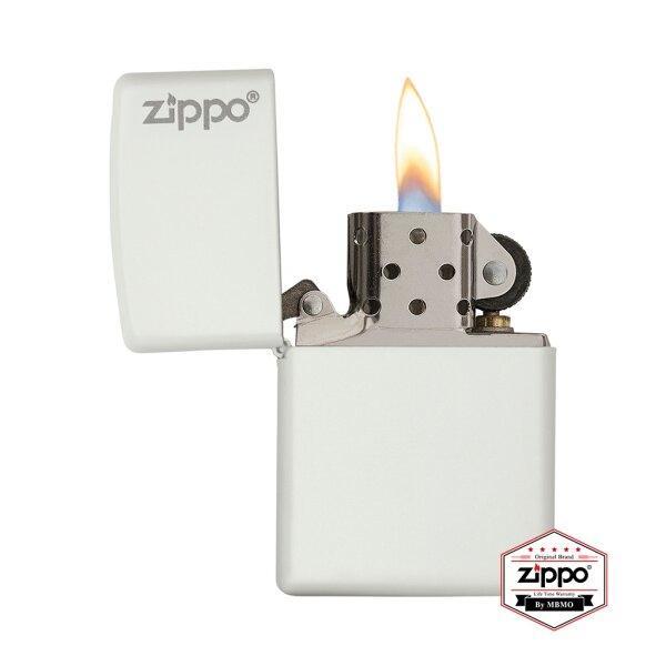 214ZL White Matte with Zippo Logo