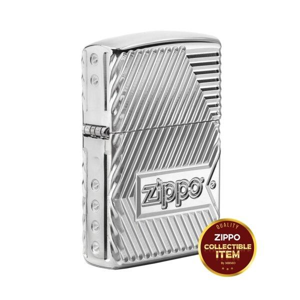 29672 Zippo Armor® Limited Edition 360º MultiCut Engraving Bolts and Flame Design
