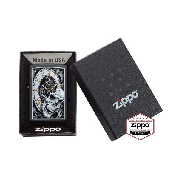 29854 Black Matte Skull Clock Design