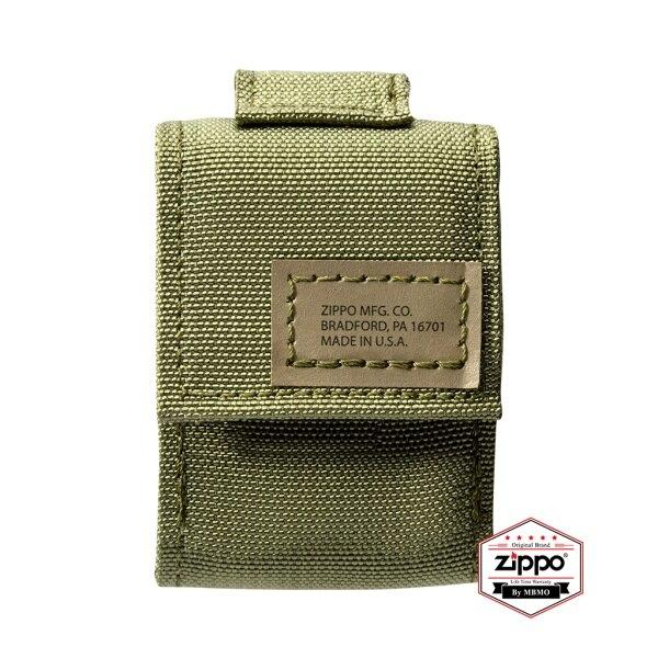 49400 Army Green Tactical Zippo Pouch and Black Crackle Windproof Lighter Gift Set