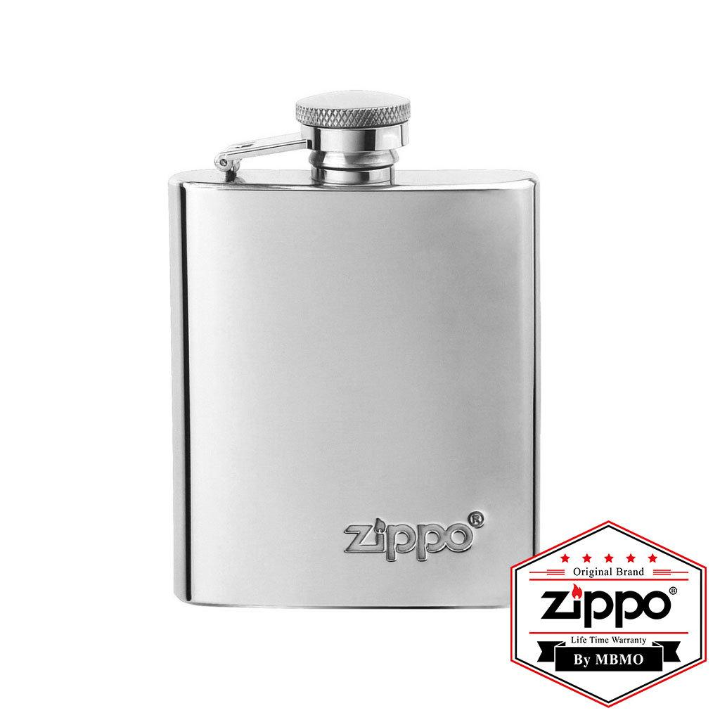 122228 Flask with Zippo logo (Stainless Steel)