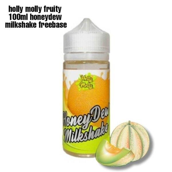 Holly molly fruity honeydew molkshake 100ml ฟรีเบส