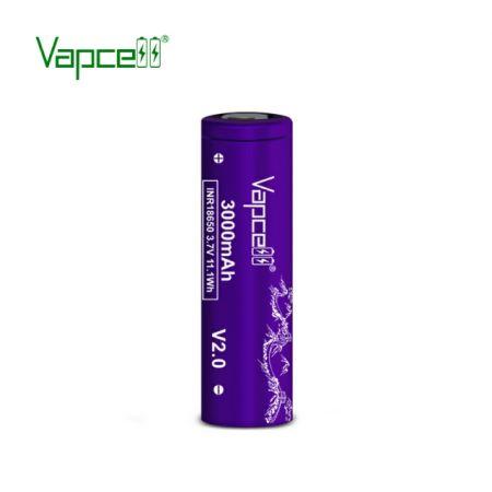 ถ่านชาร์จ Vapcell INR 18650 3000mAh 3.7 V 20A สีม่วง