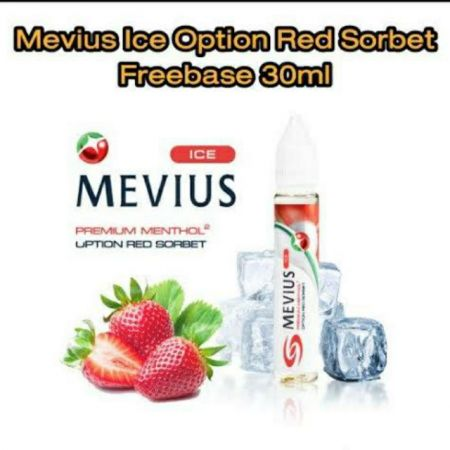 Mevius Ice Option  Red Sorbet 30ml ฟรีเบส