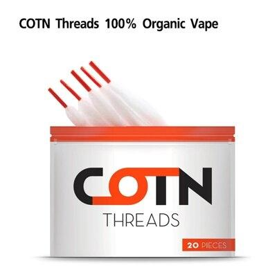 F สำลี COTN Threads 100% Organic Vape แกน3.0