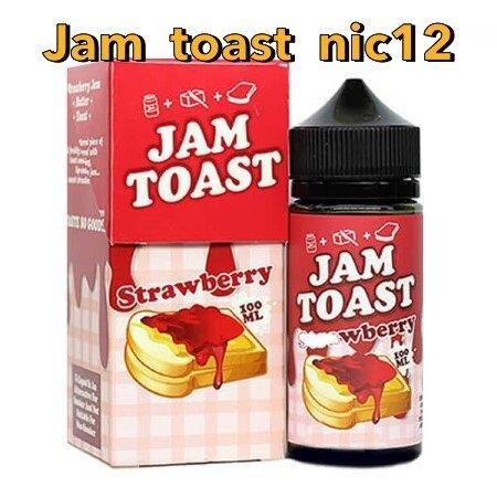 F [น้ำยามาเลเซีย] Jam Toast Strawberry 100ml nic12 [ไม่เย็น]