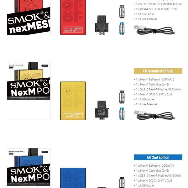 V บุหรี่ไฟฟ้าพอด SMOK x OFRF NexMESH 30W Pod Kit 1200mAh แท้ พร้อมใช้