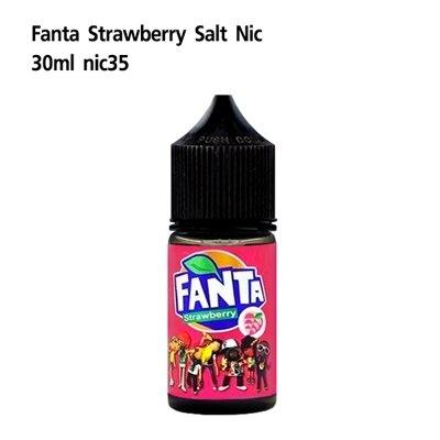 F Fanta Salt Strawberry Nic35 30ml เย็น[น้ำยา POD SALT NIC]