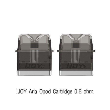 F IJOY Aria Opod Cartridge 3ml 0.6 ohm [1กล่อง2ชิ้น] [พอดเปล่าพร้อมคอยล์]