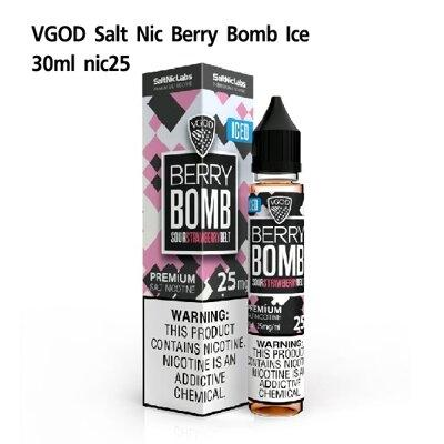 F VGOD Iced Berry Bomb Salt Nic25 30ml (เย็น)[น้ำยา POD Salt Nic USA]