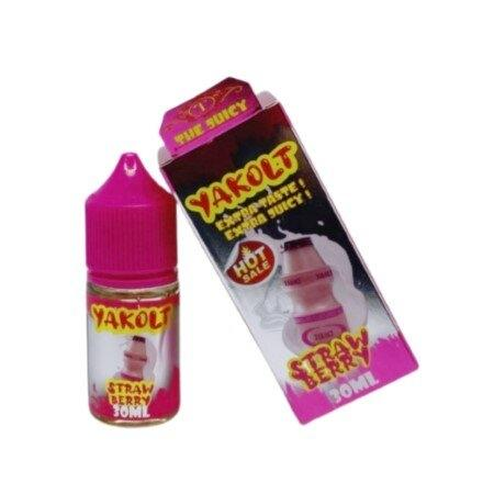 F [น้ำยา POD Salt Nic ] Yakolt Strawberry Salt 30ml N30 [เย็น]