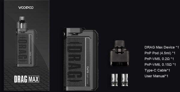 F VOOPOO DRAG MAX 177W Pod Mod Kit [แท้] [บุหรี่ไฟฟ้าพอด]