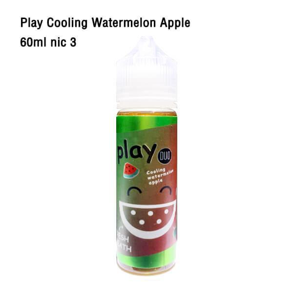 Play More Cooling watermelon apple 60ml nic3 [เย็น][น้ำยาบุหรี่ไฟฟ้าฟรีเบส]